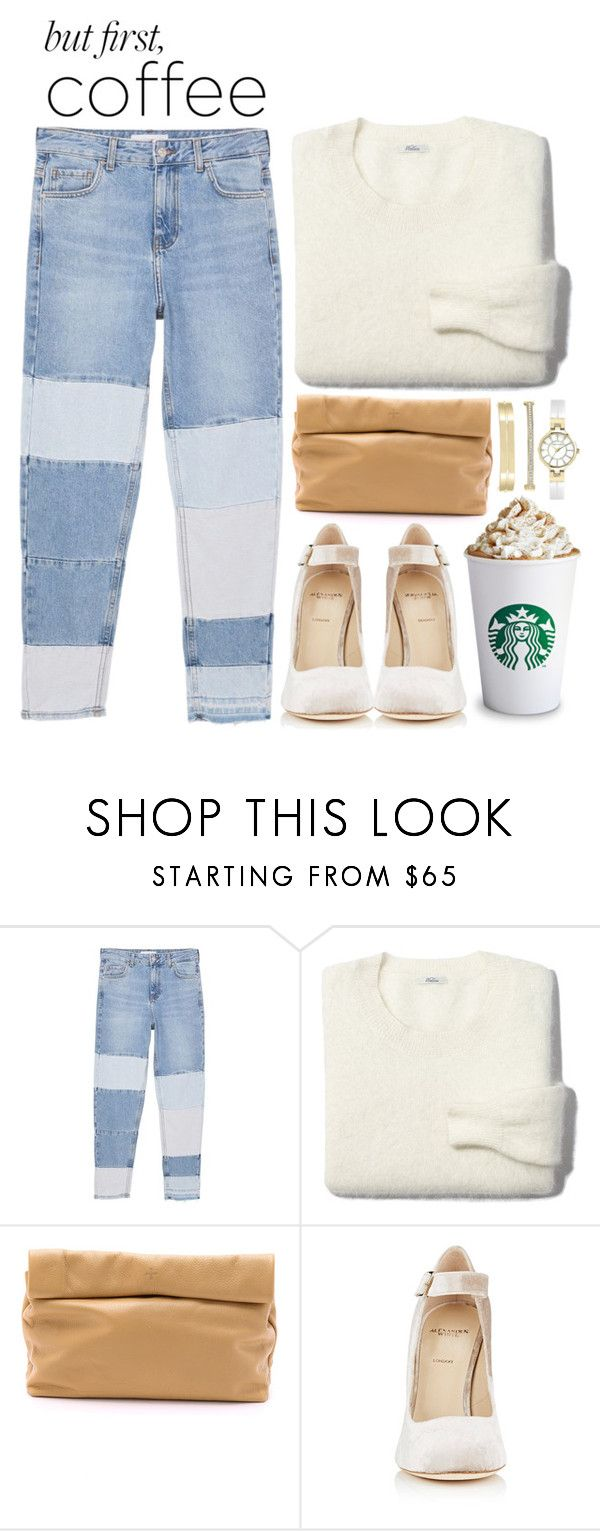 """but first coffee"" by lisannes1 ❤ liked on Polyvore featuring MANGO, Madewell, Marie Turnor, Alexander White, Anne Klein, coffee and coffeebreak"