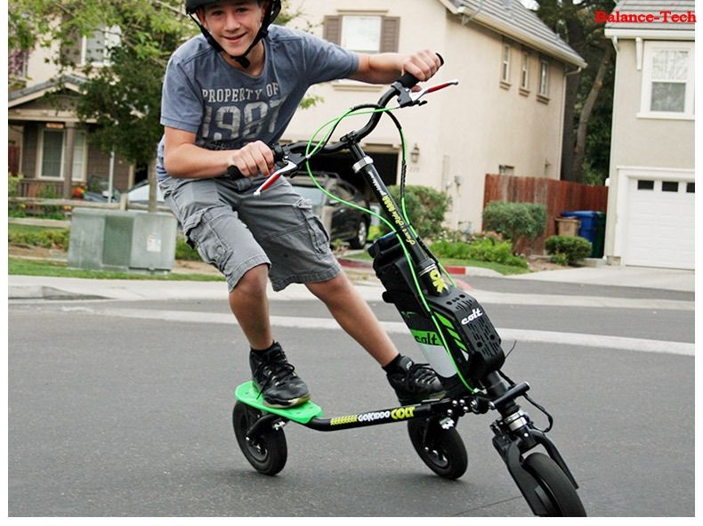 Electric Balance Breaststroke Three Roller Skating Scooter Folding