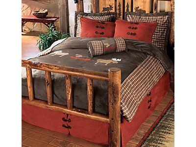 Moose bed spread set