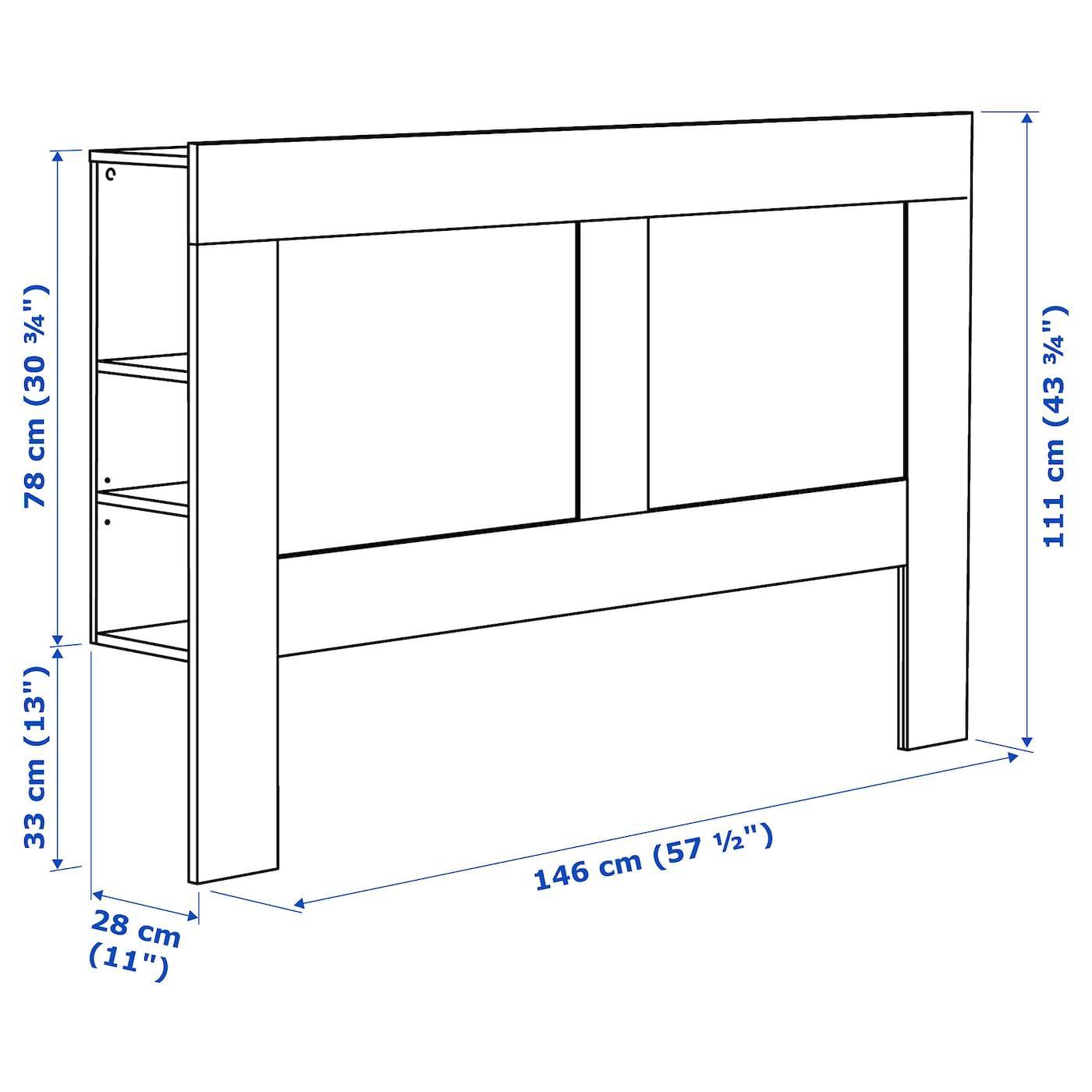 Brimnes Tete De Lit Avec Rangement Blanc 140 Cm Ikea In 2020 Kopfteil Regale Ikea Kopfteil