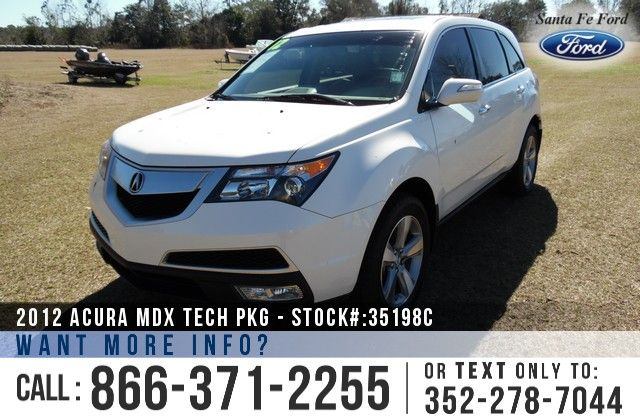 2012 Acura MDX - Sport Utility Vehicle - Tech Package - V6 3.7L Engine - Remote Keyless Entry - All Wheel Drive - Alloy Wheels - Tinted Windows - Leather Seats - Seats 7 - Powered Windows, Locks/Mirrors/Driver Seat/Passenger Seat - Bluetooth - Sunroof - Memory Seat - Rear Climate Controls - Cruise Control - Spoiler - AM/FM/CD/XM - iPod/Aux/USB Ports - Navigation - Digital Compass - Heated Front Seats - HomeLink - Backup Camera - EZ Lift Tailgate - Dual Exhaust and more!