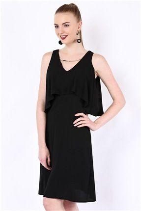195 30296 Elbise Elbise Elbise Modelleri Siyah Kisa Elbise