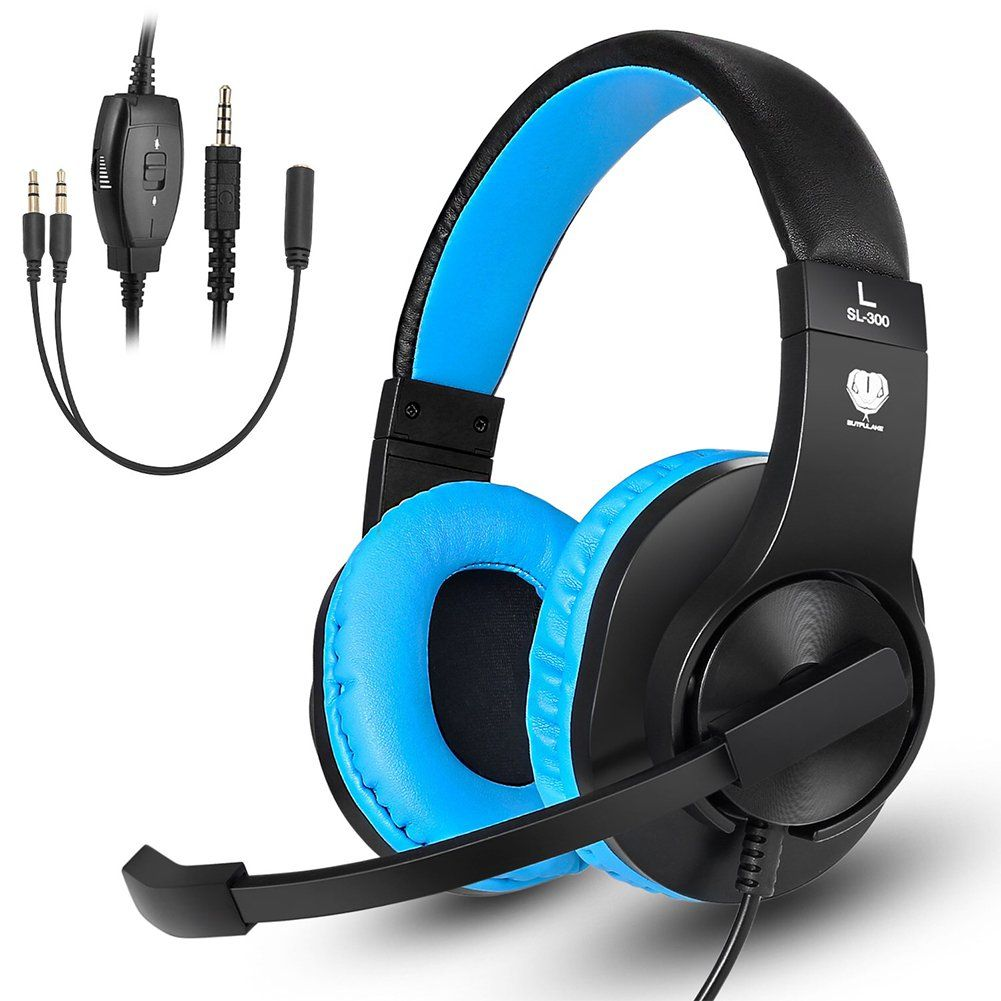 Makibes Wired Over Ear Headphones Gaming Headset with Noise ...