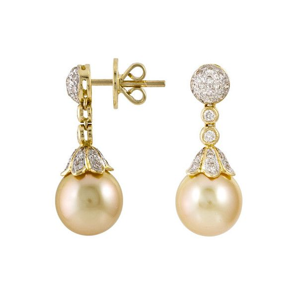 Golden South Sea Pearl Earrings Tara