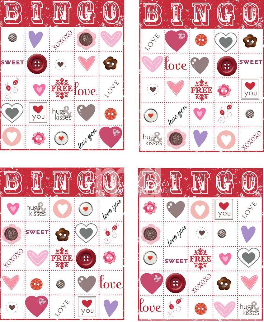 Valentines Day Bingo – Free Printable Valentines Day Bingo Cards