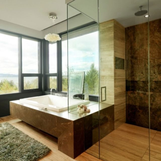 houzz Spa Bathrooms Pinterest Houzz, Spa bathrooms and Open plan - Bathroom Glass