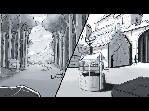 How To Draw A Background Environments And Landscapes Landscape Drawings Landscape Background Landscape Scenery
