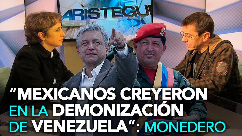 Aristegui entrevista a Juan Carlos Monedero // PAN Robó Elecciones a AMLO