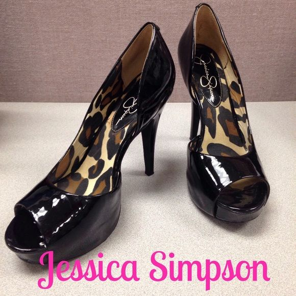7ed6b91db2b Heels · Jessica Simpson Black Patent ...