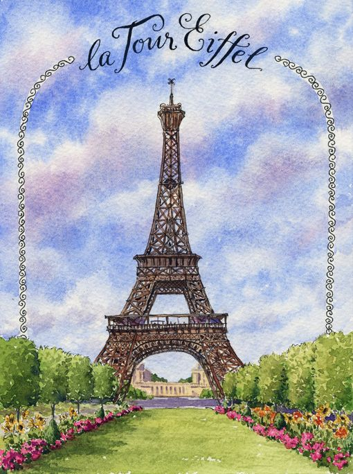France Sketchbook Eiffel Tower Step By Step Watercolor Tutorial