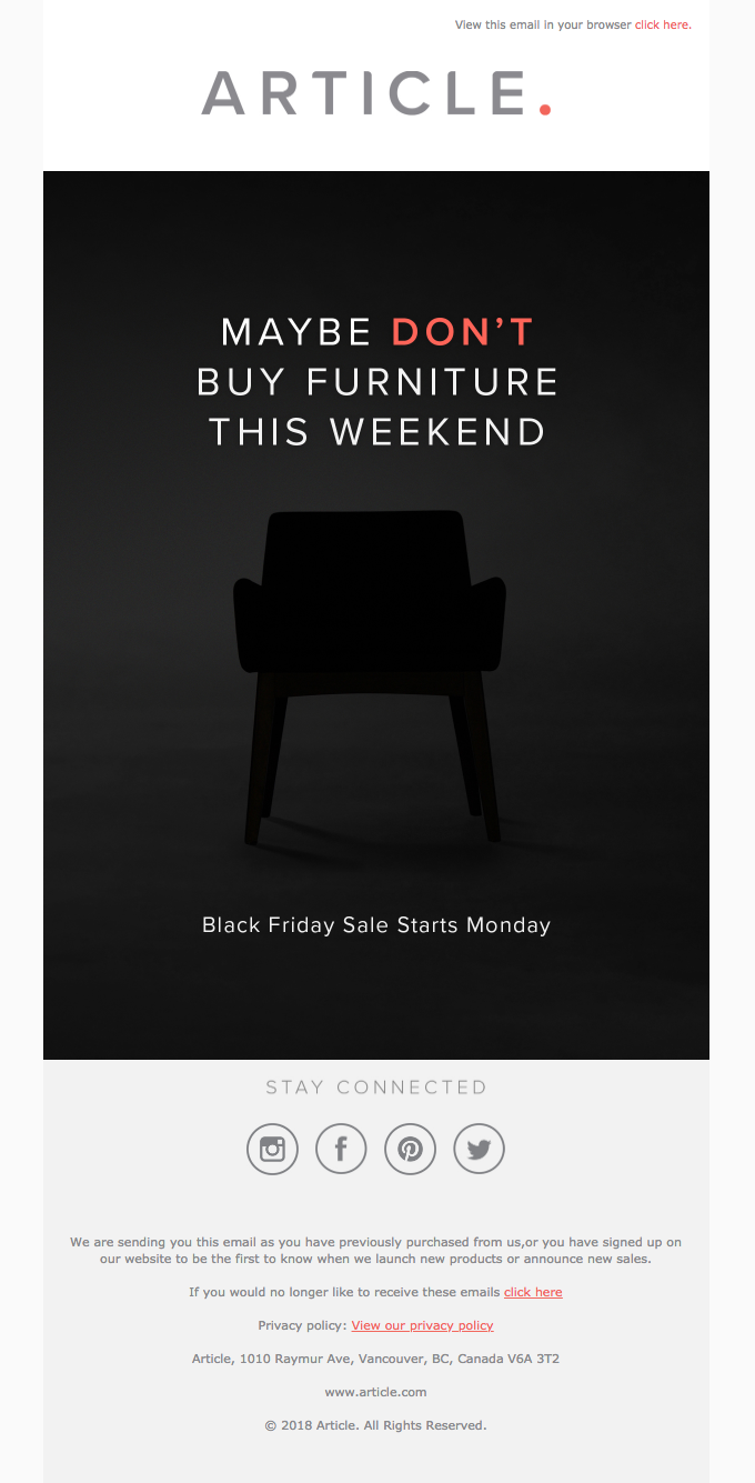 This Weekend Only Please Don T Shop Really Good Emails Black Friday Email Black Friday Email Design Black Friday Design