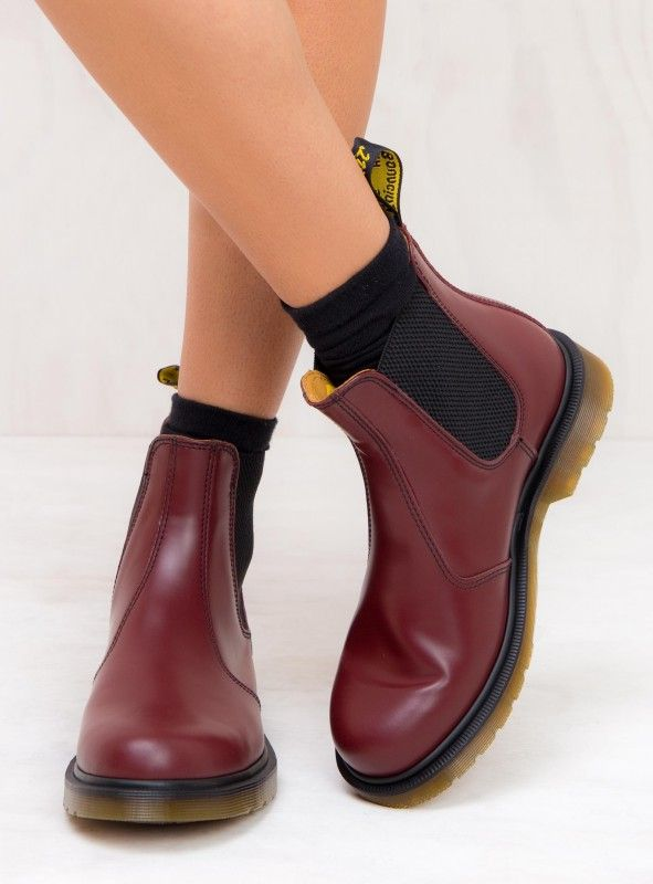 37b78941782 Dr. Martens 2976 Smooth Chelsea Boots Cherry Red | Want in 2019 ...