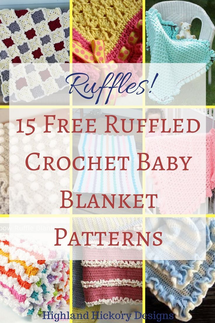 15 Free Ruffled Baby Blanket Patterns | Gratis häkelanleitung ...
