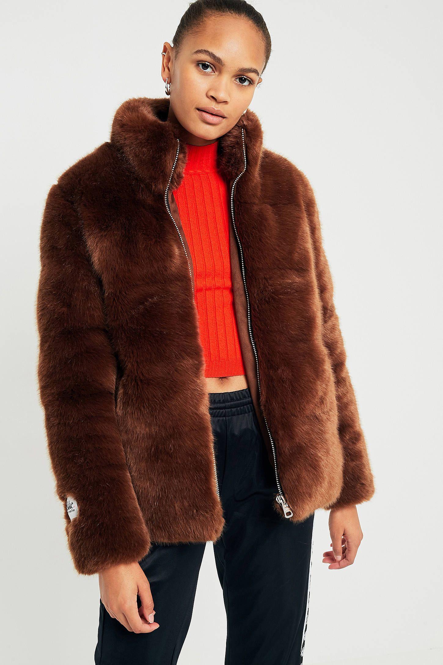 Jakke Penny Brown Faux Fur Puffa Jacket Brown Faux Fur Coats Jackets Women Jackets [ 2175 x 1450 Pixel ]