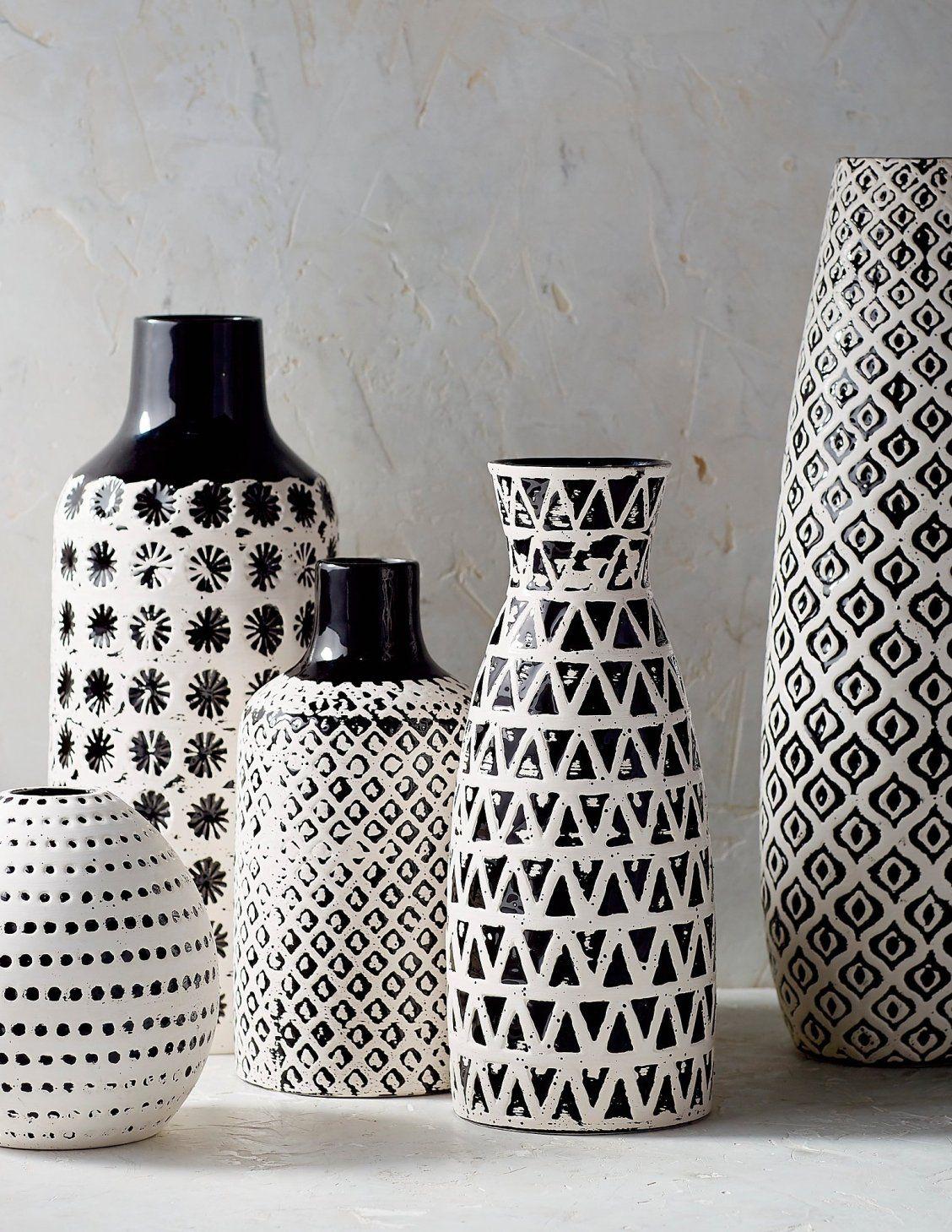 Chiara Ceramic Vase Collection With Images Ceramic Vase Black