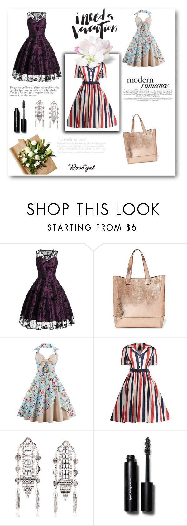 """""""Rosegal 2/II"""" by nermina-okanovic ❤ liked on Polyvore featuring Steve Madden, Bobbi Brown Cosmetics, vintage and rosegal"""