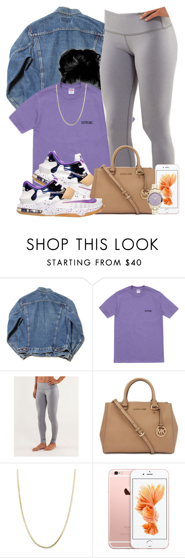 """""""Untitled #525"""" by b-elkstone ❤ liked on Polyvore featuring NIKE, Michael Kors and Giani Bernini"""
