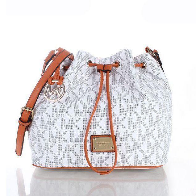 d47deaefc6 Perfect Michael Kors Jules Drawstring Logo Large Vanilla Shoulder Bags