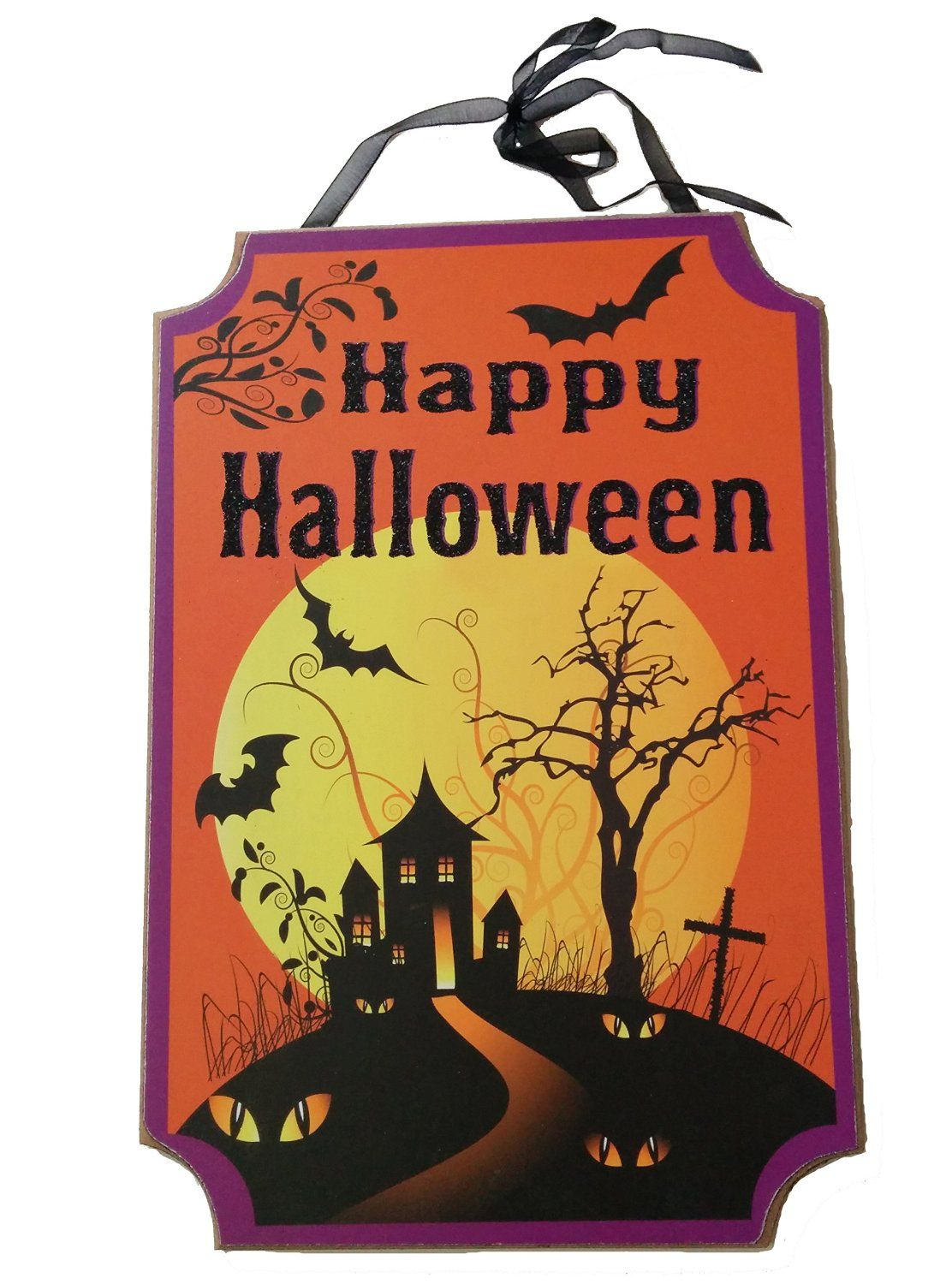 Cute Happy Halloween Door Sign That Would Make A Great