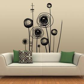 Decorar paredes flores picasso vinilos en paredes lucy pinterest decorar paredes - Paredes decoradas con vinilos ...