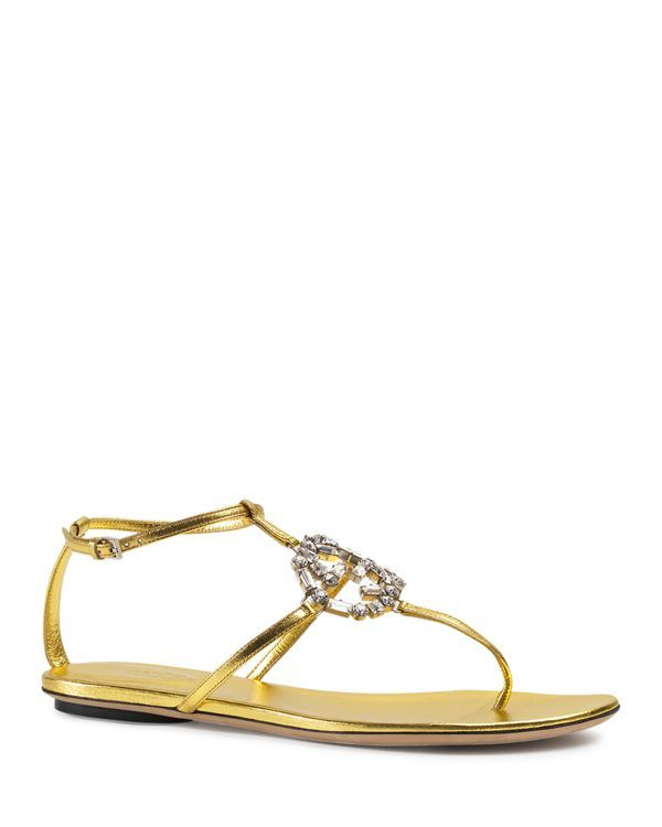 e59637f46 Gucci Flat Sandal - Gg Sparkle | my sandals & flats | Leather ...