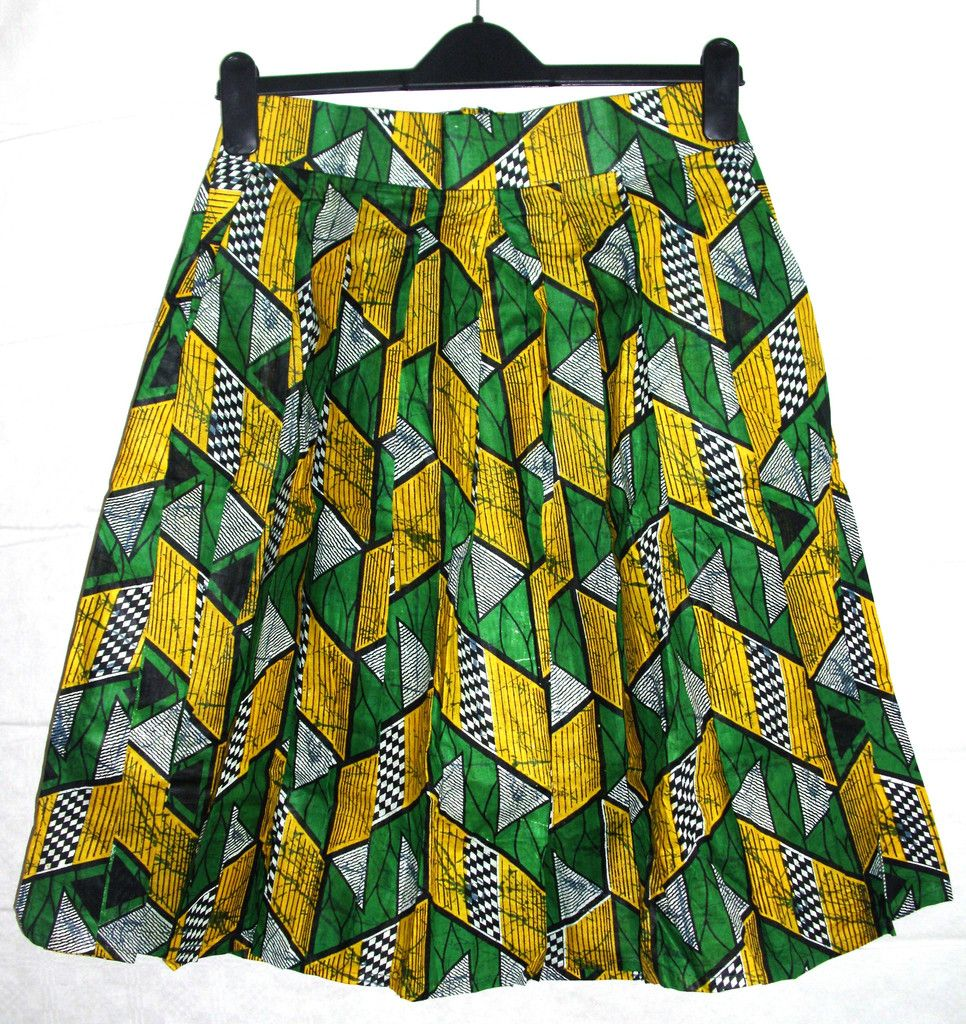 Best Green Yellow Pleated Pocket Kitenge Skirt Midi Skirt With Pockets Skirts Skirts With Pockets 400 x 300