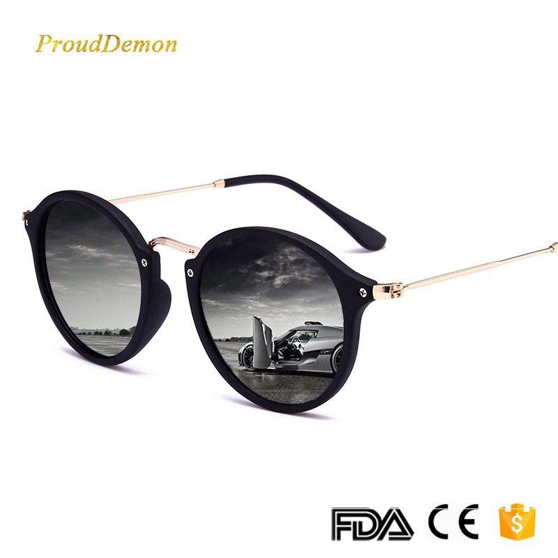 d61376ec3958 2018 New Arrival Round Sunglasses Retro Men women Brand Designer Sun  glasses Vintage coating mirrored Oculos