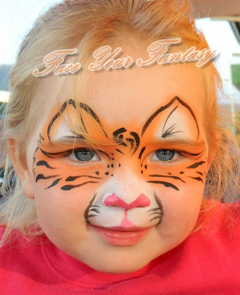 Easy tiger face paint - photo#26