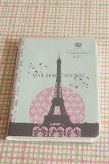 Caderno com capa transparente / Notebook with transparent cover