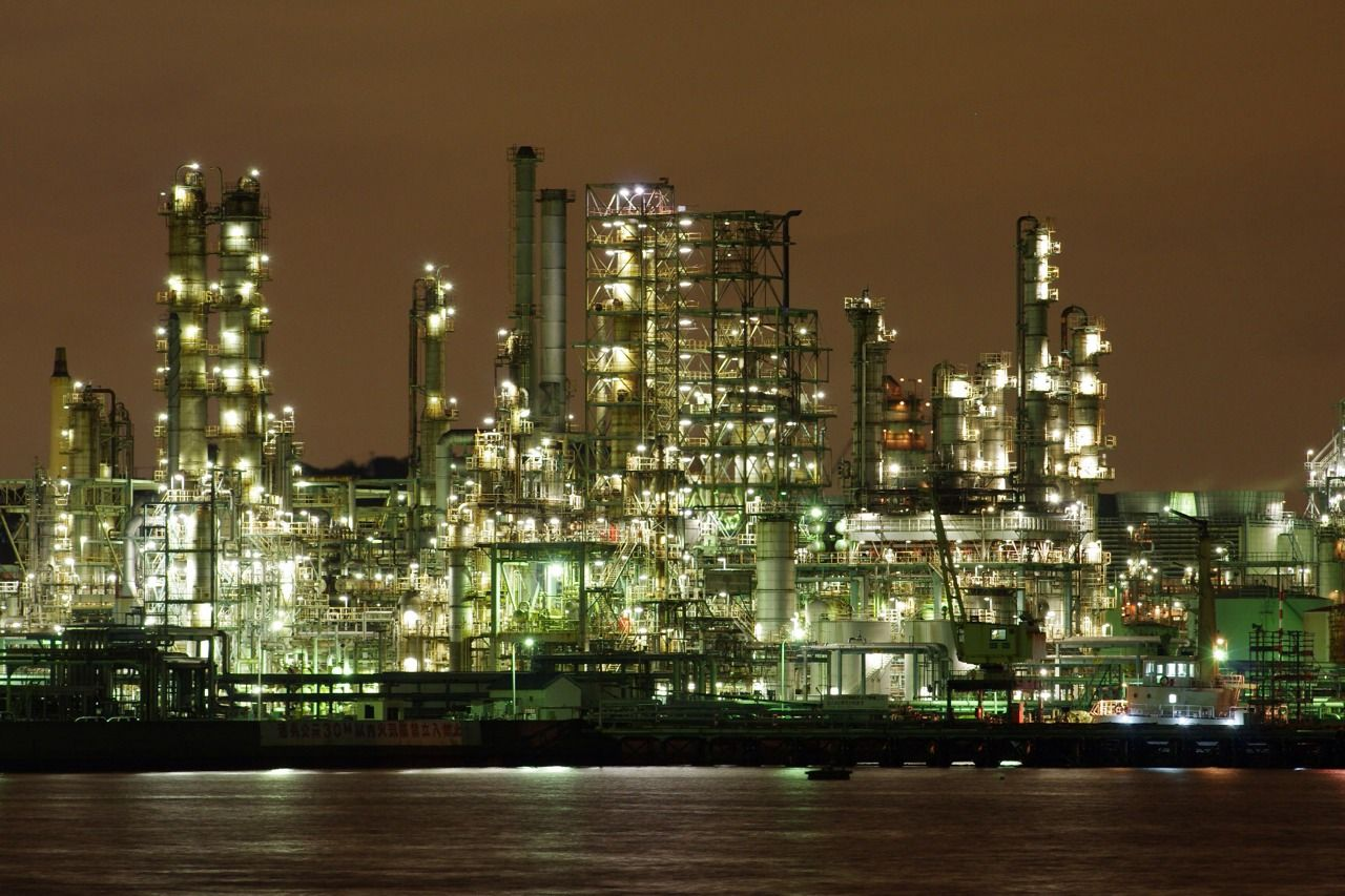 Yokohama Japan 工場夜景 横浜市磯子 工場萌え 絶景 壁紙 横浜