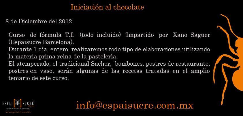 Iniciación al chocolate / Espaisucré / DF / 8 de Dic 12