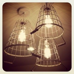 DIY: How To Make A Cage Pendant Light Shade From A Wire Basket   Via