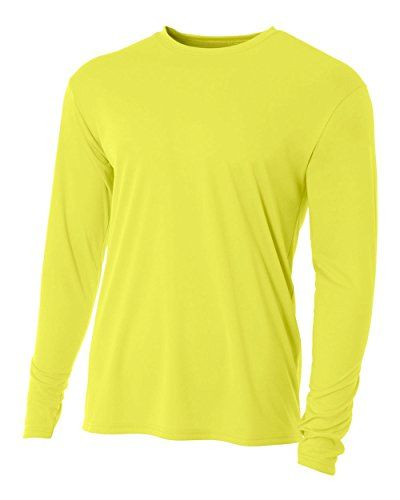 Bright Power Yellow Adult 2x Long Sleeve Wicking Cool