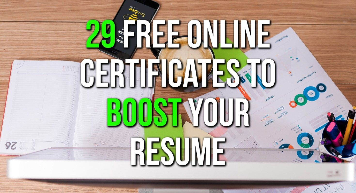 Free Online Courses With Certificates CV Building in