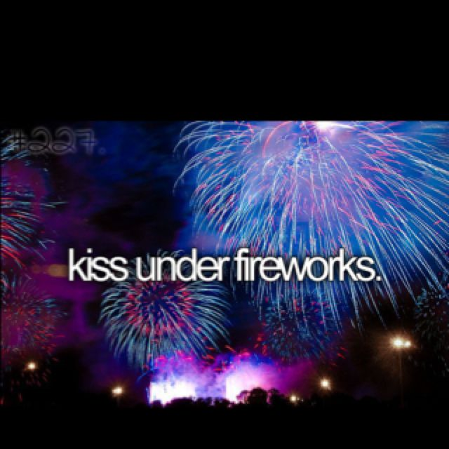 !!! I've always thought of how romantic it would be to be proposed to under fireworks! I mean come on! It's night time,there are big, flashing lights everywhere, and you're together. What's not to love?!
