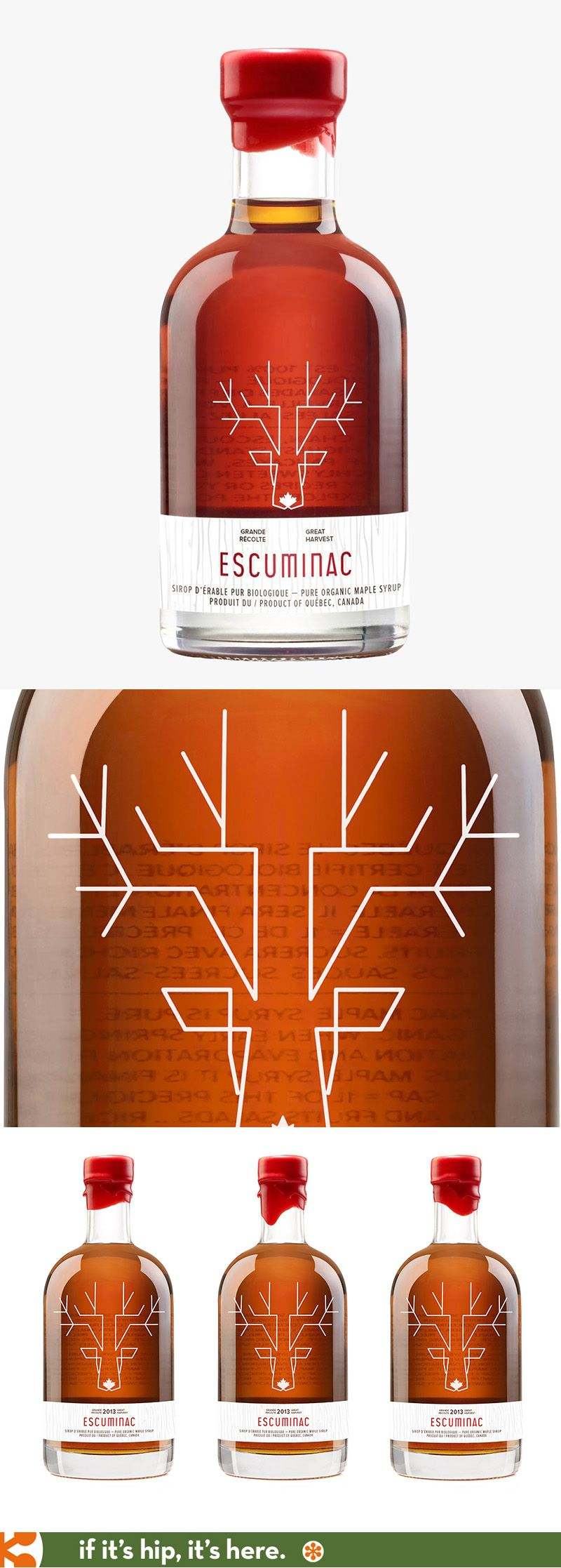 Escuminac Erable Merisier Maple Birch With Beautiful Bottle Design By Chez Valois Bottle Label Design
