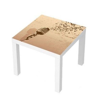 Sticker Table Basse Lack 55x55 Retro Microphone Table Coffee