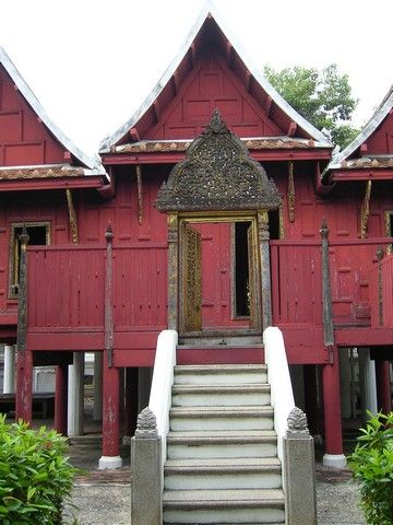 Old Traditional Thai House Thai House Traditional Architecture Traditional House