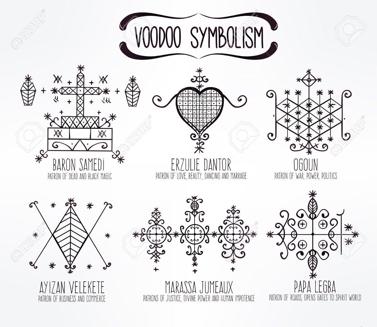 Voodoo Spirits Symbols Set  Spiritual, Magical, Cultural And