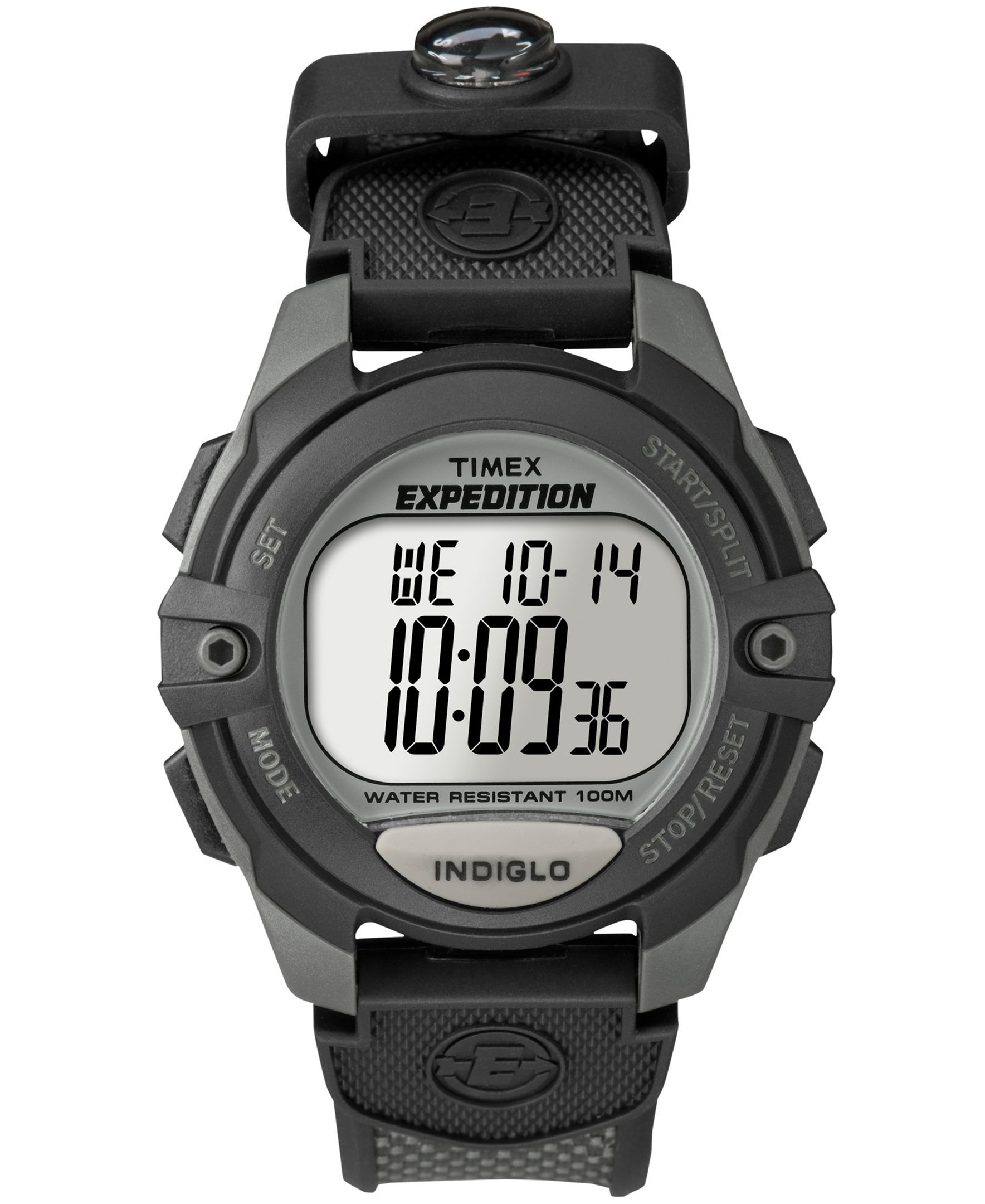 7eac29551 Timex Watch, Men's Digital Expedition Charcoal Canvas Strap T40941UM ...
