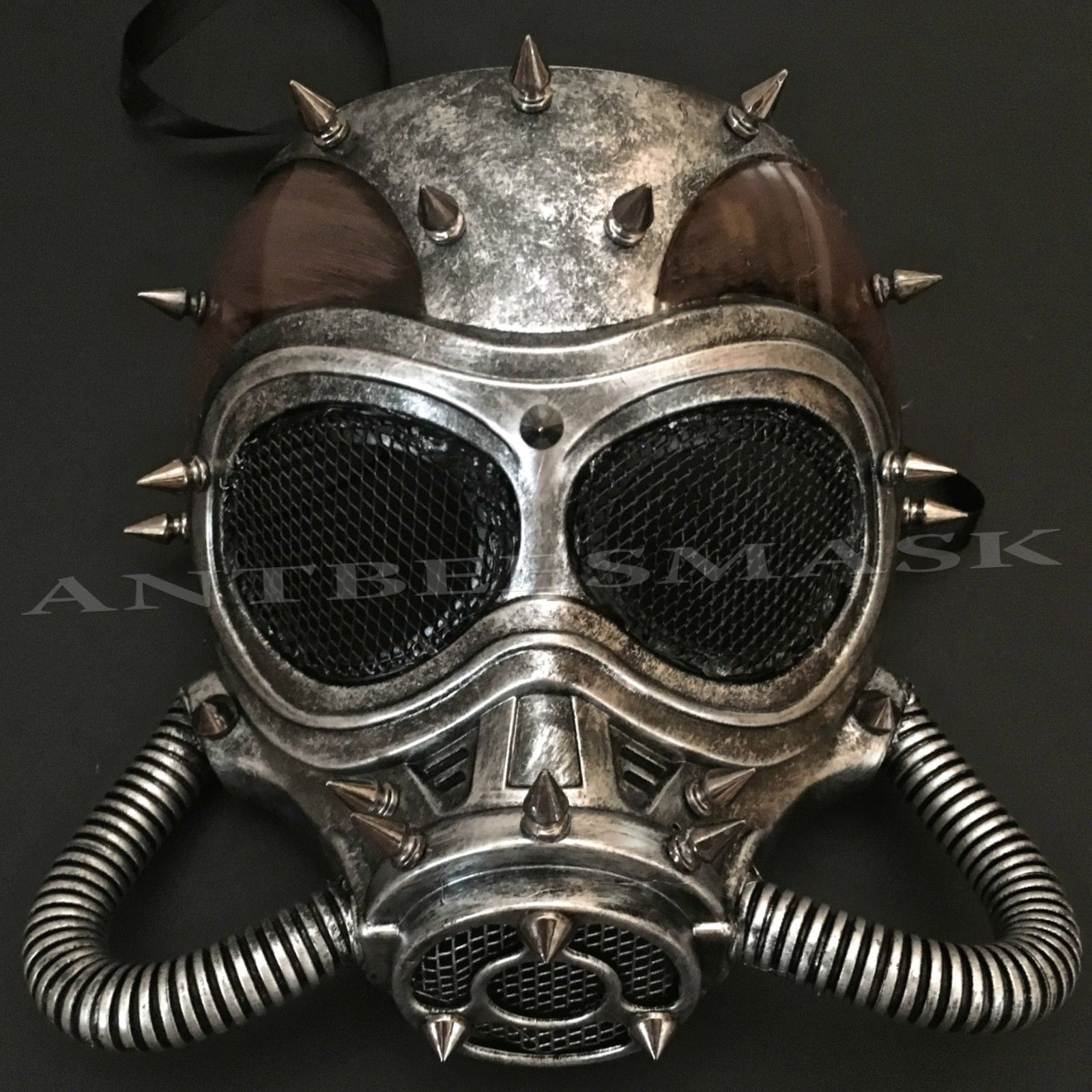 Long Spike Rivet Punk Steampunk Masquerade Face Mask Cosplay Costume Party