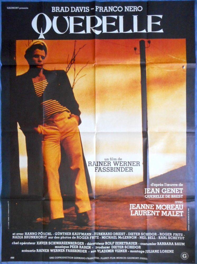 QUERELLE MOVIE POSTER Large French Poster Brad Davis Jean Genet Fassbender  | eBay