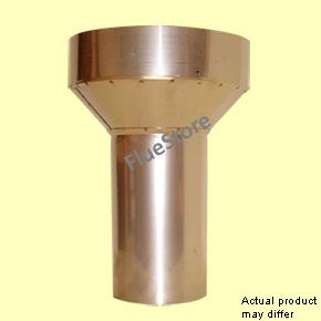 External fit Clay Pot Adaptor 225mm 9 in. with 125mm spigot - The External Fit Clay Adapter is used to connect to the bottom of a chimney stack which has a clay liner installed, and a chimney flue liner is not being installed.
