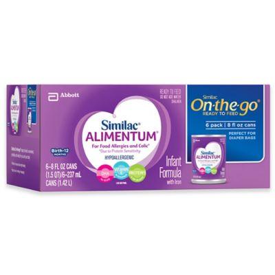 Similac Alimentum 8 Oz Hypoallergenic Infant Liquid Formula Six