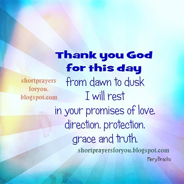 Short Quotes Religious: New Day, New Prayer Thank You God For