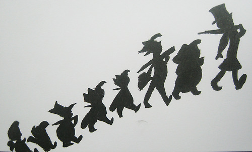 Peter Pan Silhouette Peter Pan Silhouette Drawing Black Ink White
