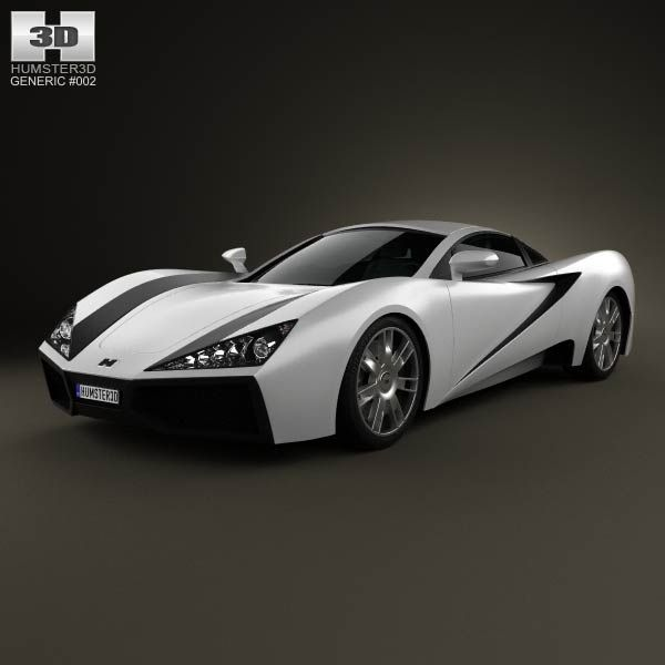 Generic Sport Car 2013 3d Model From Humster3d.com. Price: $75