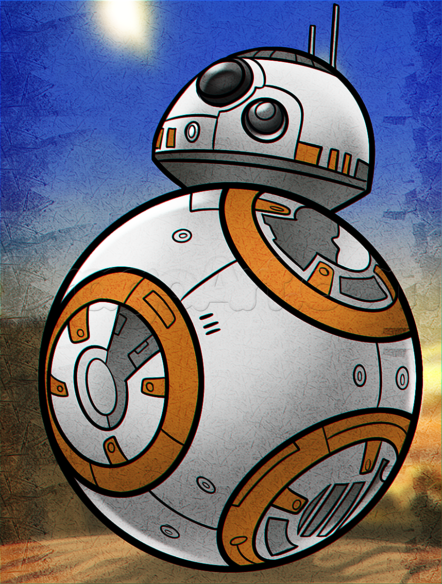 Bb8 Drawing : drawing, BB-8,, Step,, Characters,, Wars,, Sci-fi,, Online, Drawing, Tu…, Painting,, Drawings,, Characters