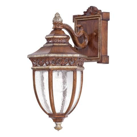 Castle Ridge 1 Lt Outdoor Wall Mount 1 Light Wall Mount In Mossoro Walnut W Silver Highlights Finish W Outdoor Sconces Outdoor Wall Lighting Wall Lights