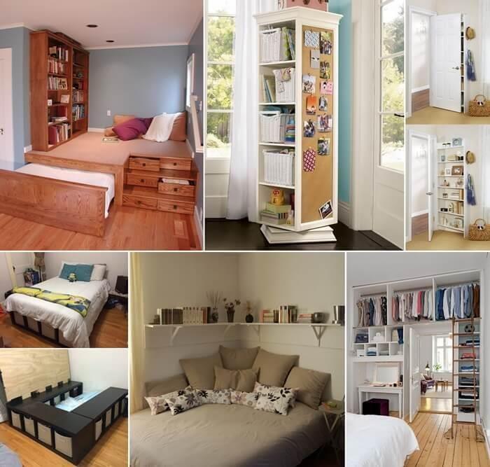 15 Inteligentes Ideas De Almacenamiento Para Un Dormitorio Pequeño ...